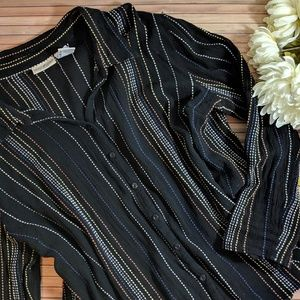 Textured Stripe Button Down Shirt